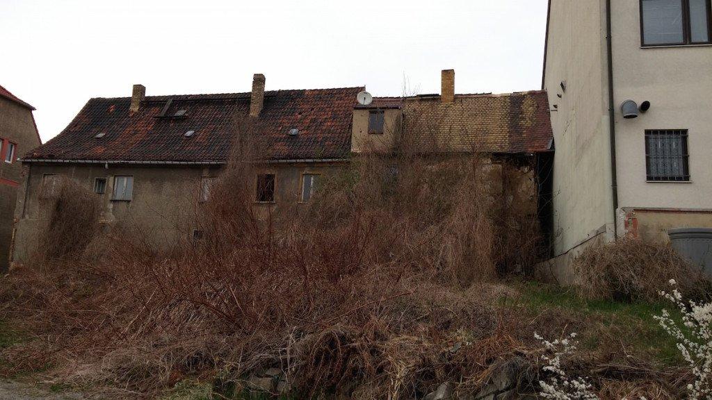 Die Häuser vom Innenhof aus gesehen