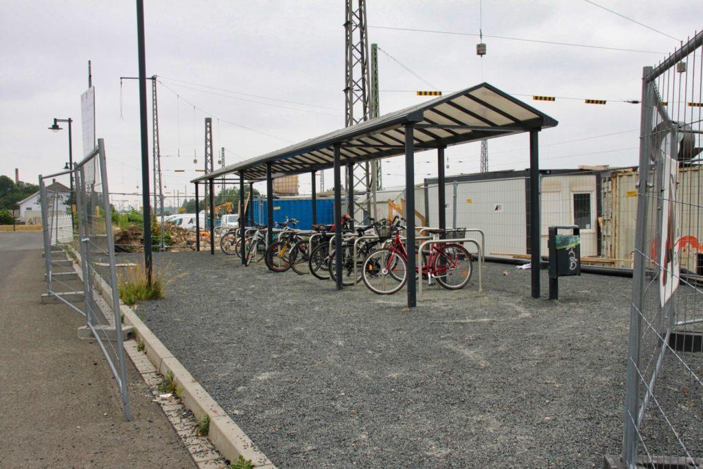 Taucha Bahnhof: Fahrradabstellplatz
